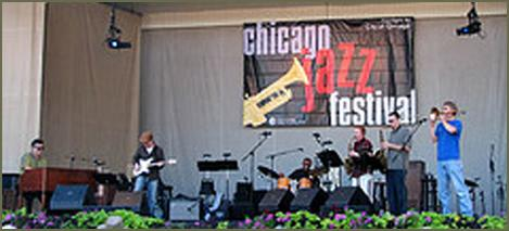 B3 Bombers playing at the Chicago Jazz Festival